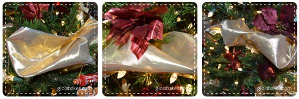 christmas tree ribbon - gioiabakes.com