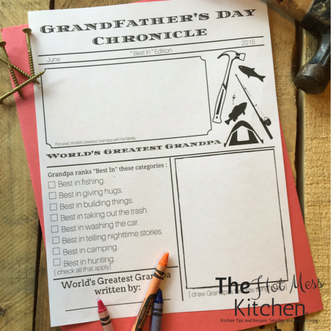 grandfathers day printable father's day printable