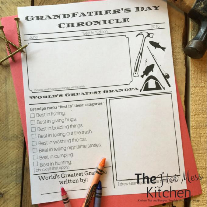 grandfathers day printable father's day printable