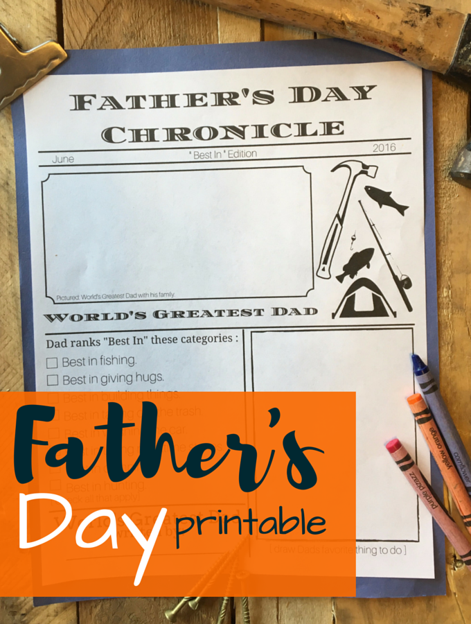 Father's Day Printable Craft