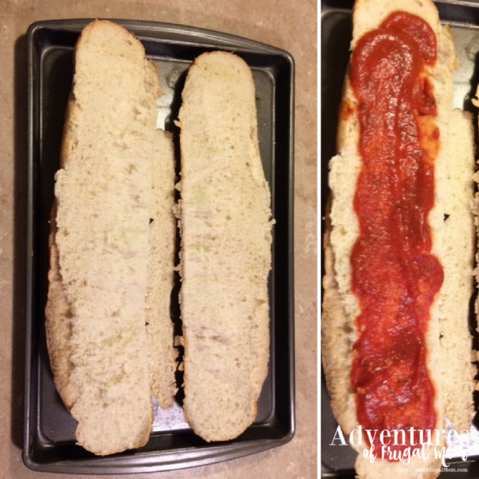 french bread pizza - adventures of frugal mom