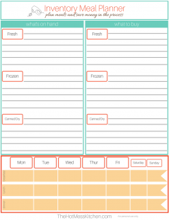 Inventory Meal Planner 2017 - TheHotMessKitchen