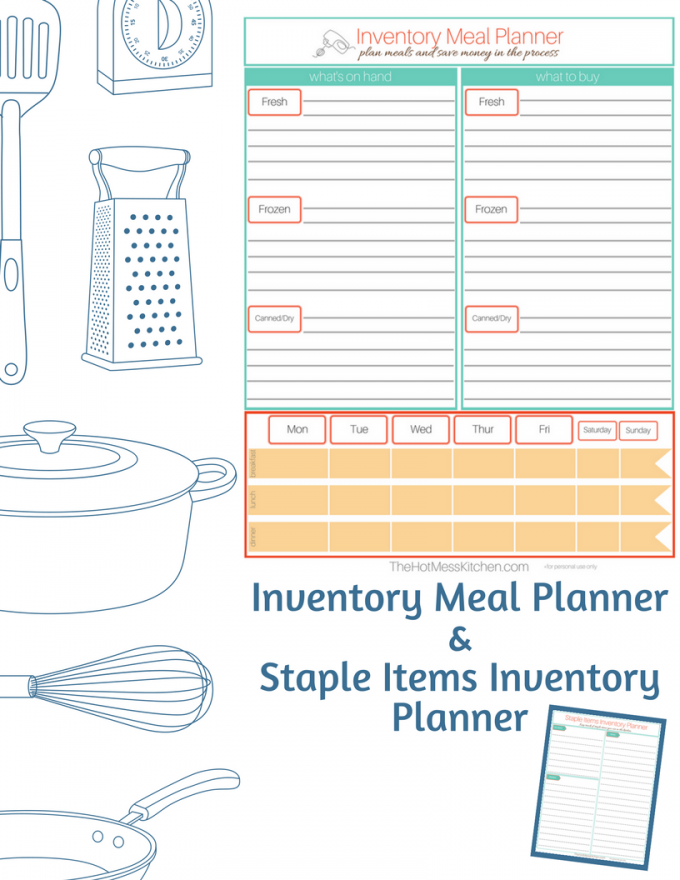 Printable Inventory Meal Planner