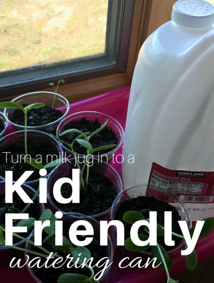 Turn a Milk Jug in to a Kid Friendly Watering Can